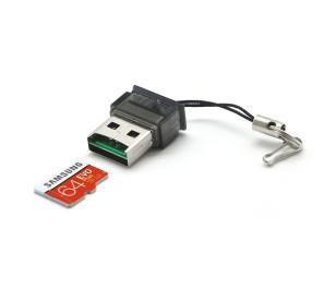TX UCR203 USB 2.0 MicroSD Kart Okuyucu - Siyah
