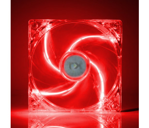 TX 12cm Kırmızı LED'li Sessiz Kasa Fanı
