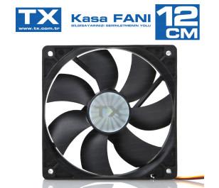 TX 12cm Siyah Kasa Fanı