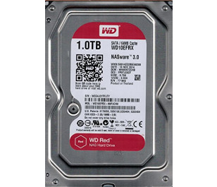 """WD 1TB Red 3,5"""" SATA III 6Gbit/s IntelliPower 64MB Cache NAS 7/24 (WD10EFRX)"""