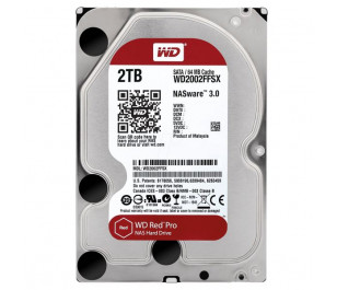 """WD 2TB Red Pro 3,5"""" 7200RPM SATA III 64MB Cache NAS 7/24 (WD2002FFSX)"""